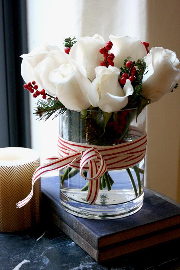 Homemade Christmas Flower Arrangements  DIY Easy Holiday Floral Arrangement Victoria McGinley
