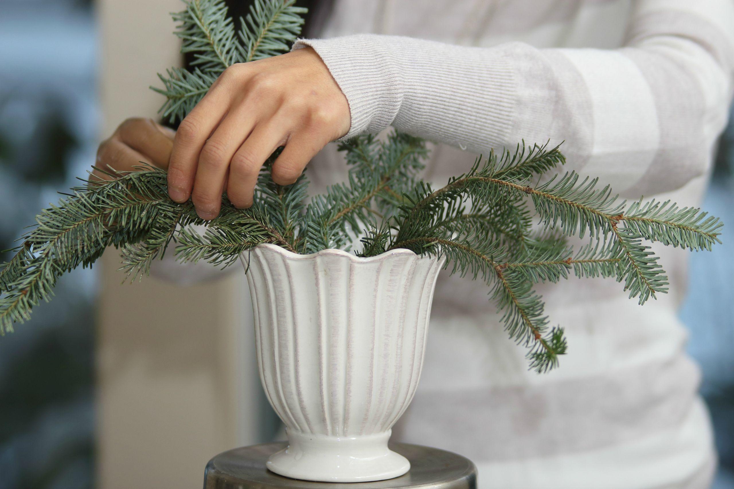 Homemade Christmas Flower Arrangements  DIY Christmas Arrangement js weddings and events