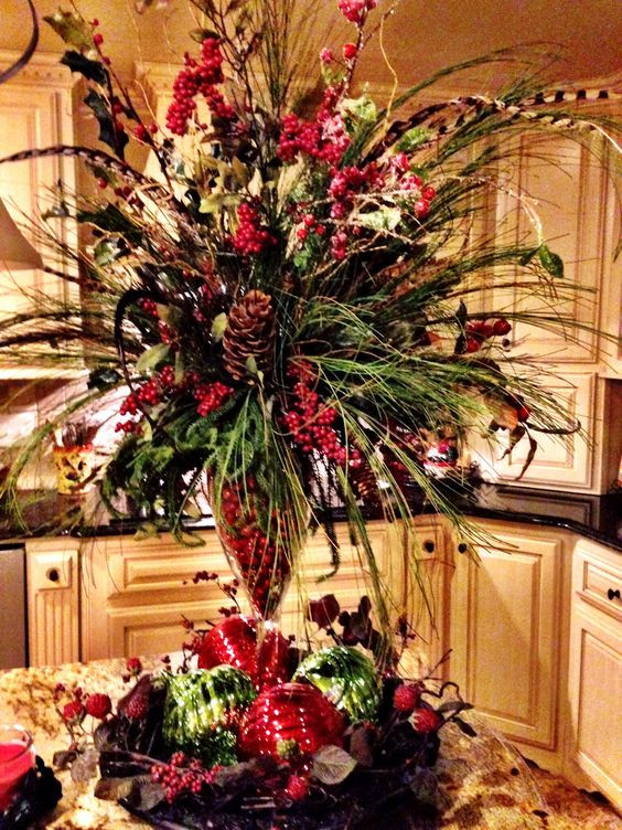 Homemade Christmas Flower Arrangements  DIY Christmas Floral Arrangements DIY Cuteness