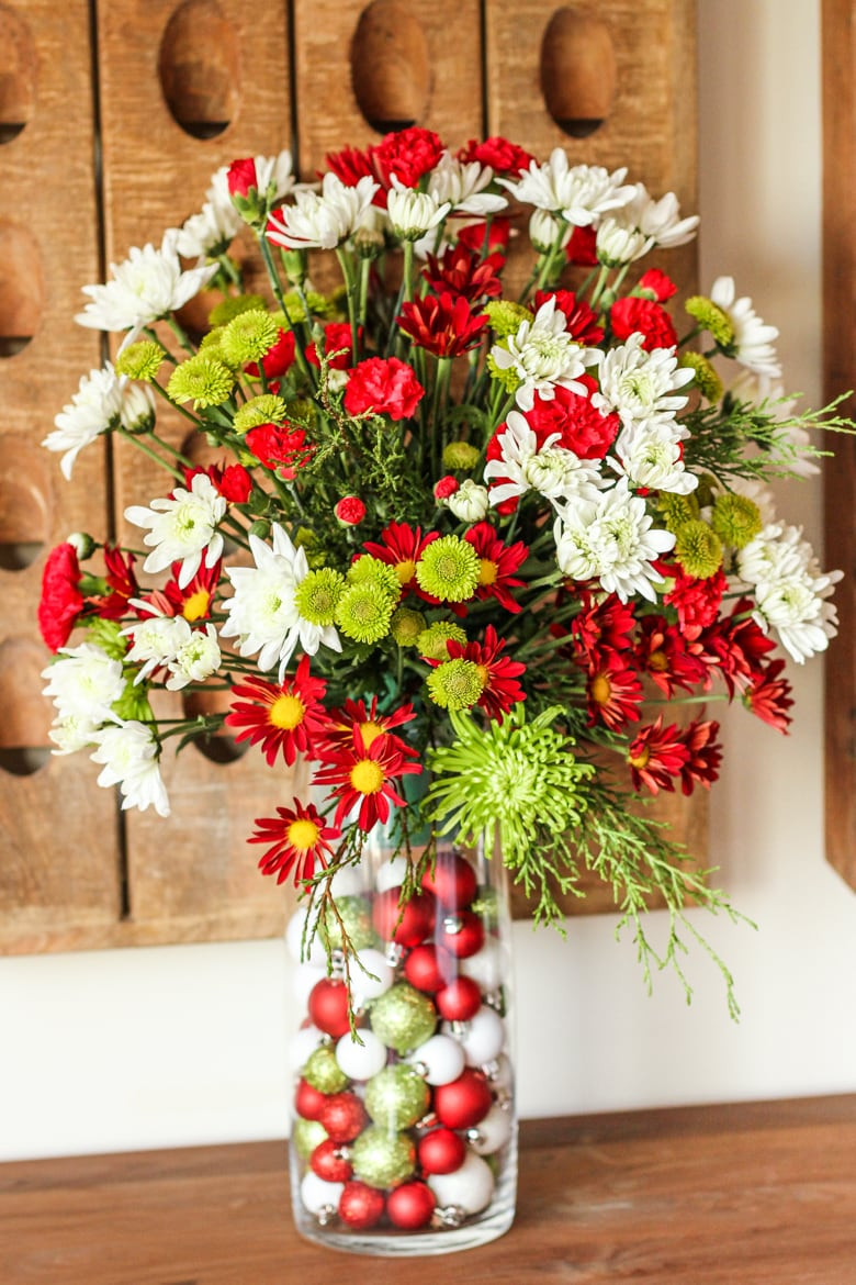 Homemade Christmas Flower Arrangements  Easy Flower Arrangement for the Holidays and Beyond