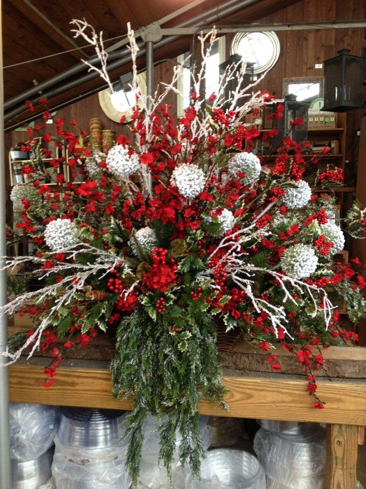 Homemade Christmas Flower Arrangements  Best 25 DIY Christmas floral arrangements ideas on