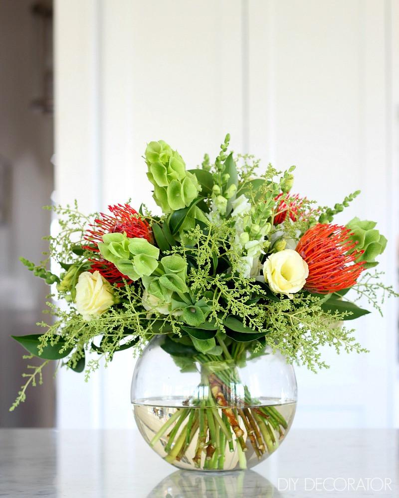 Homemade Christmas Flower Arrangements  How to Create a Christmas Flower Arrangement DIY Decorator
