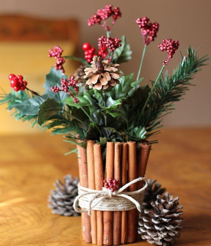 Homemade Christmas Flower Arrangements  120 best Wedding Greenery Christmas Greens images on