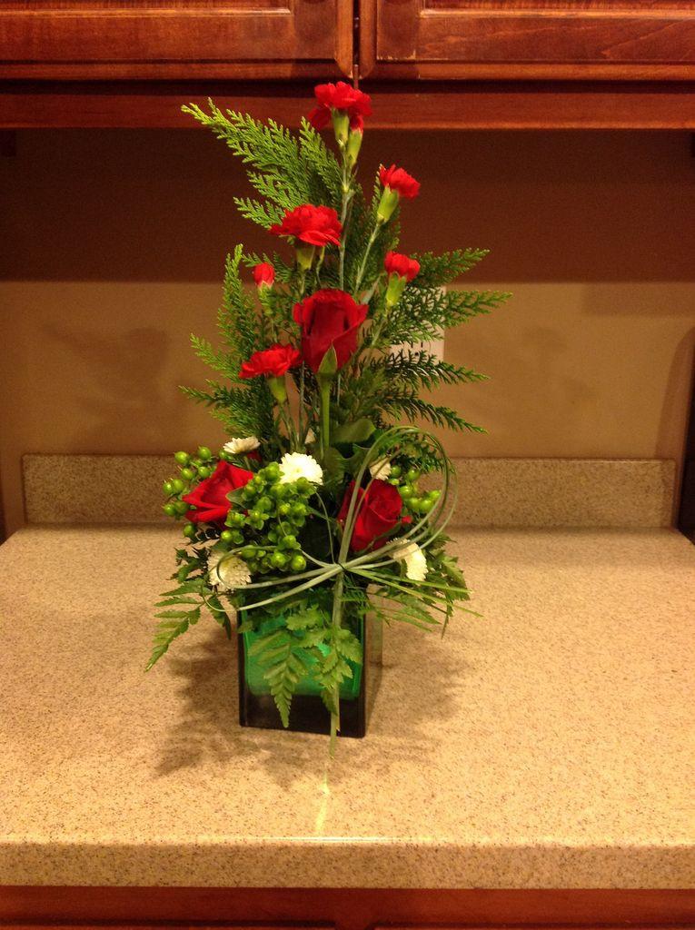 Homemade Christmas Flower Arrangements  How to Make a Christmas Flower Arrangement 13 Steps