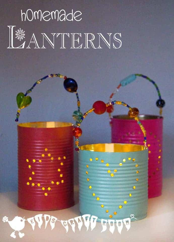 Homemade Crafts For Toddlers  Homemade Gifts Tin Can Lanterns Kids Craft Room