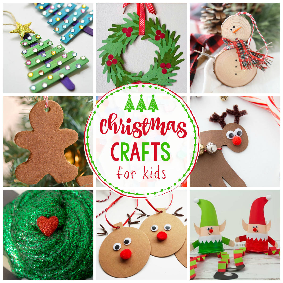 Homemade Crafts For Toddlers  25 Easy Christmas Crafts for Kids Crazy Little Projects