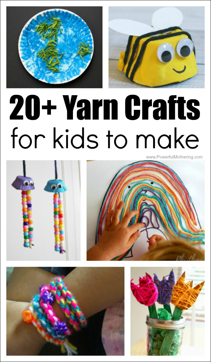 Homemade Crafts For Toddlers  20 Absolutely Fantastic Easy Yarn Crafts for Kids to Make