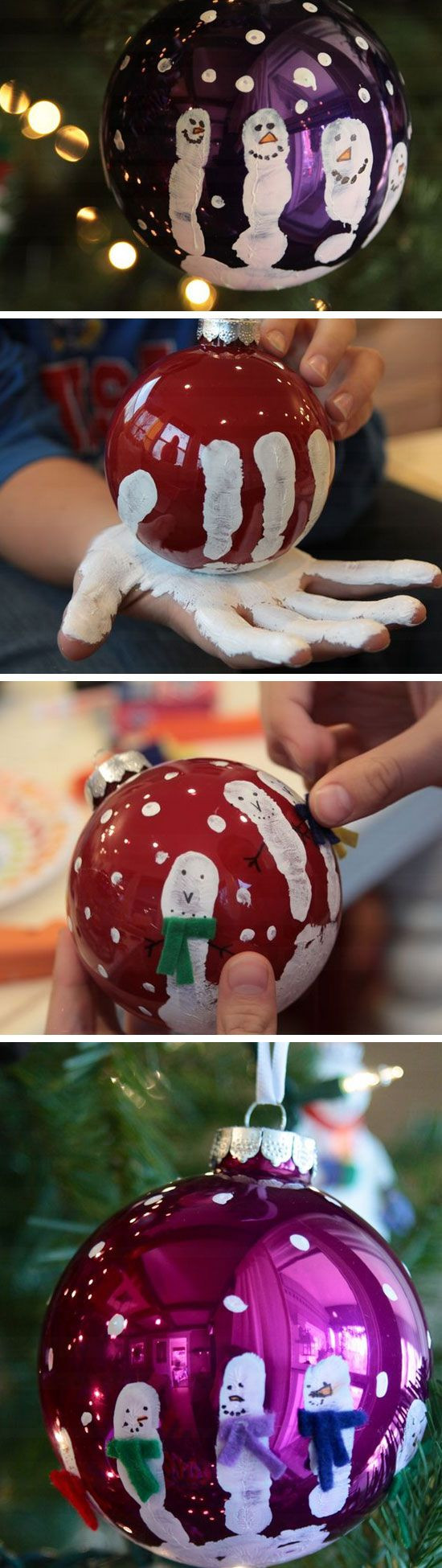 Homemade Crafts For Toddlers  Easy and Cute DIY Christmas Crafts for Kids to Make Hative