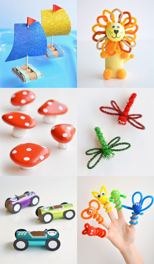 Homemade Crafts For Toddlers  Low Mess Crafts for Kids Book e Little Project