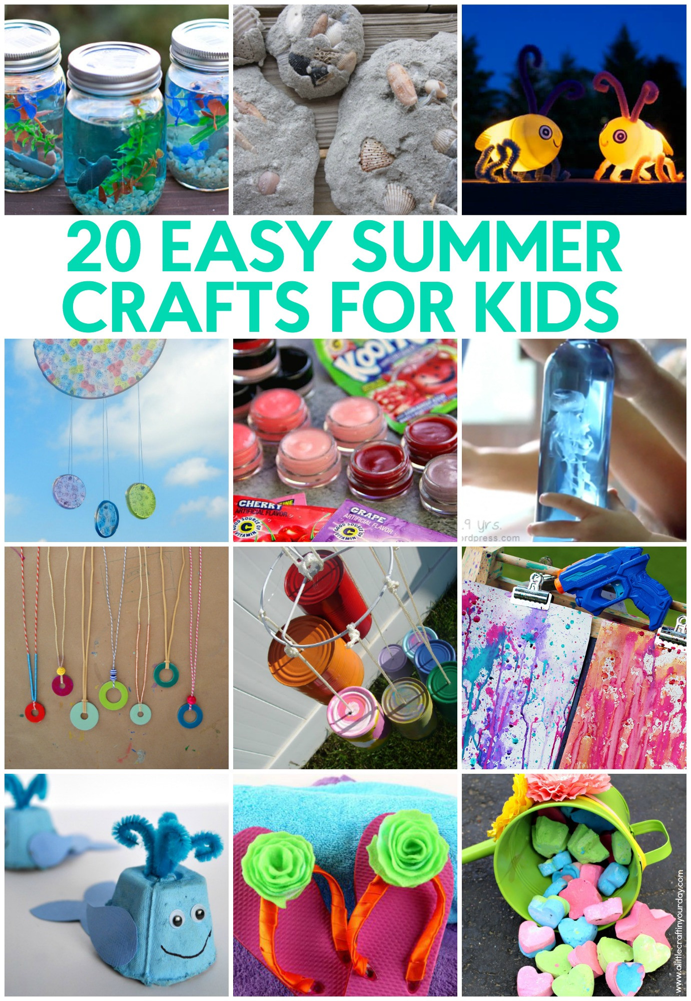 Homemade Crafts For Toddlers  20 Easy Summer Crafts for Kids A Little Craft In Your Day