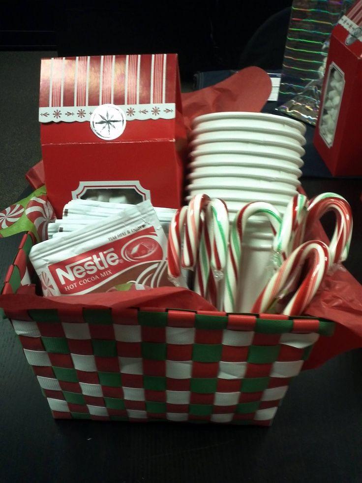 Hot Chocolate Gift Basket Ideas  Hot chocolate t basket Great neighbor t idea I