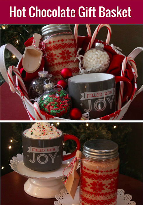 Hot Chocolate Gift Basket Ideas  Hot Cocoa Gift Basket with Homemade Hot Cocoa Mix