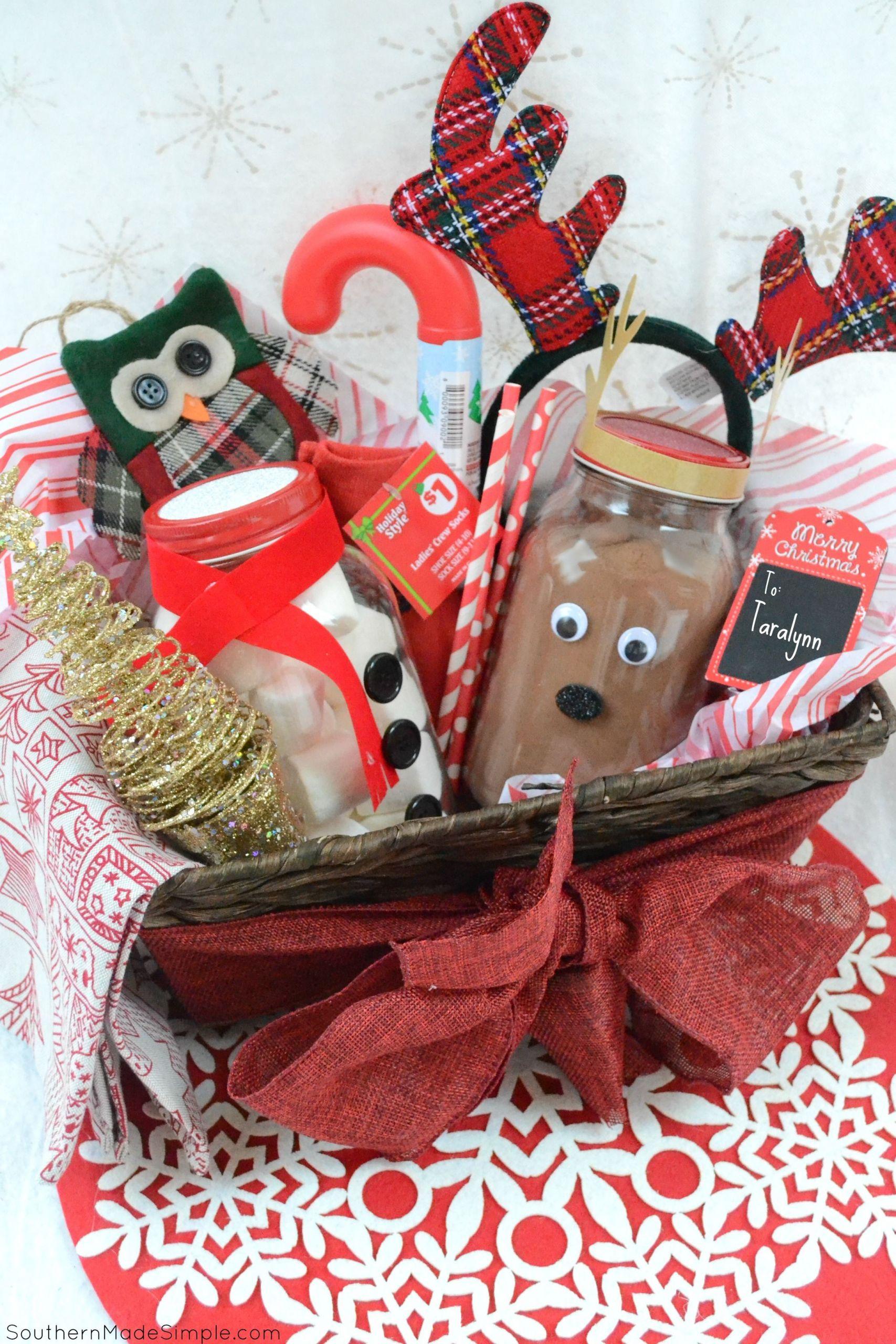 Hot Chocolate Gift Basket Ideas  Easy Holiday Gift Idea DIY Hot Cocoa Gift Basket