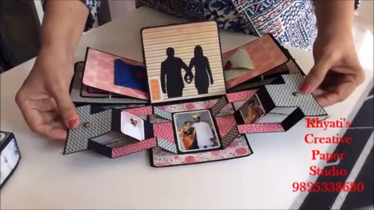 Husband Anniversary Gift Ideas  Cutest Anniversary t idea Romantic Explosion box
