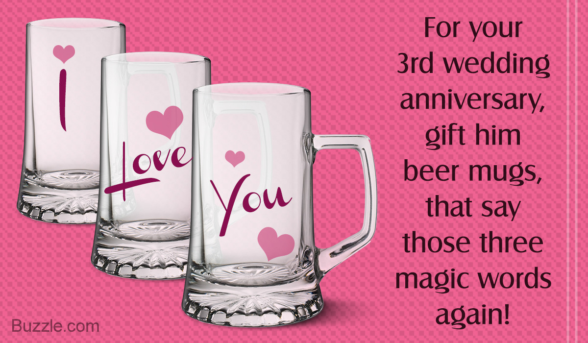 Husband Anniversary Gift Ideas  Simply Awesome 3rd Wedding Anniversary Gift Ideas for Husband