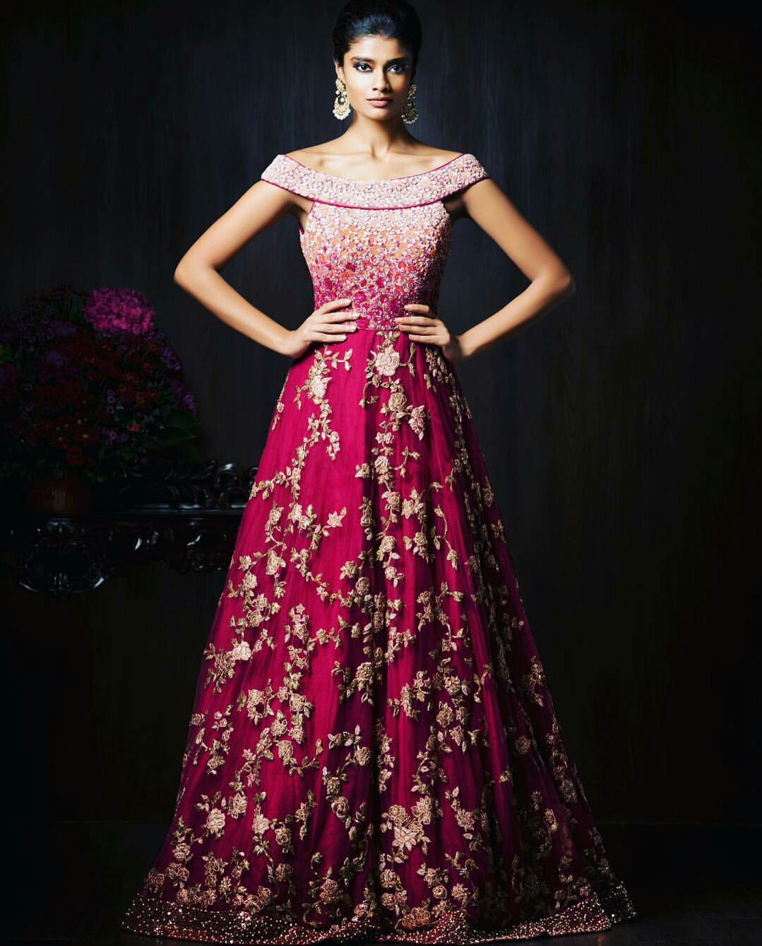 Indian Wedding Gown  Gorgeous New Indian Reception Gown Styles For Indian Brides