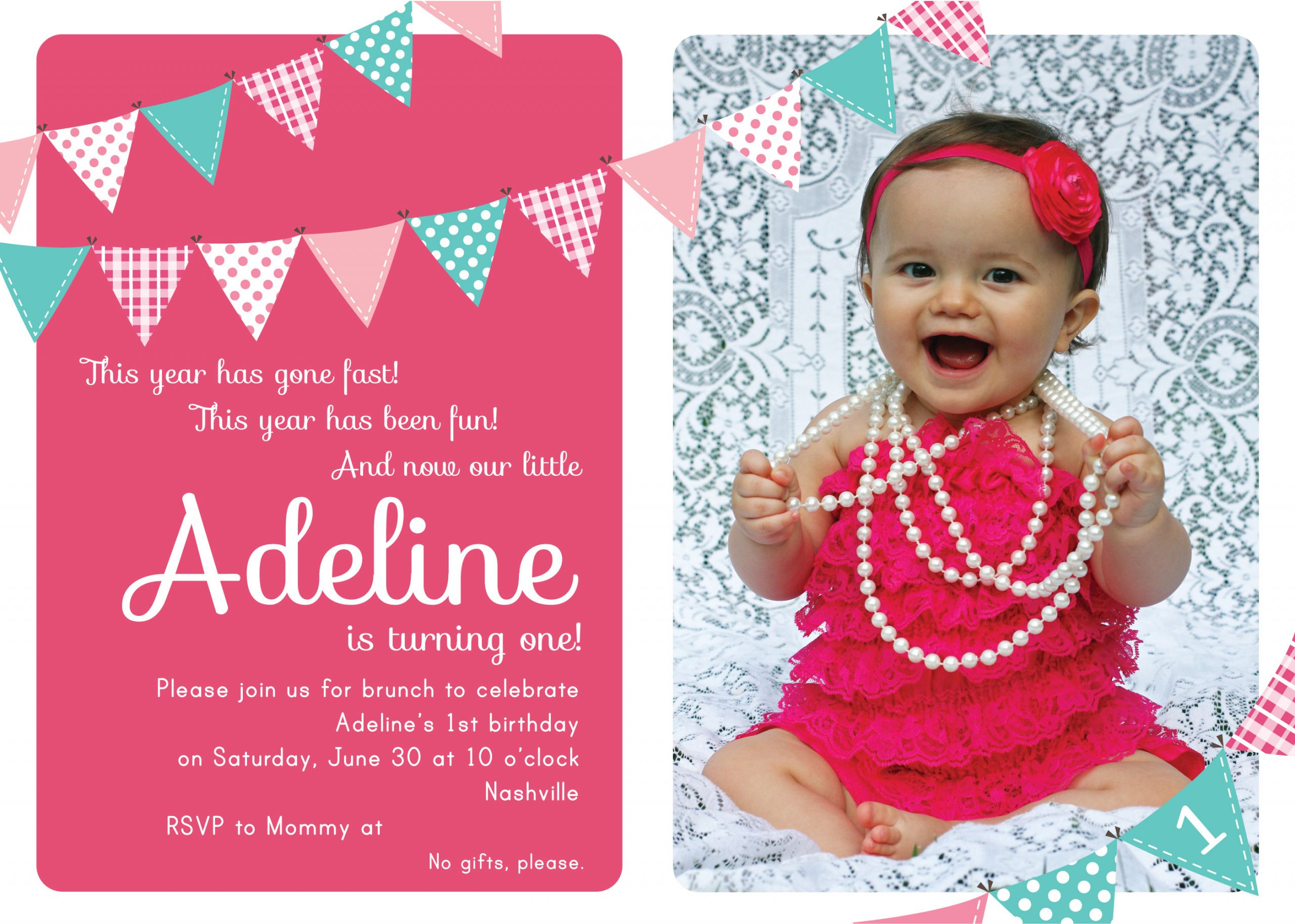Invitation Birthday Party  First Birthday Party Invitation Ideas – Bagvania