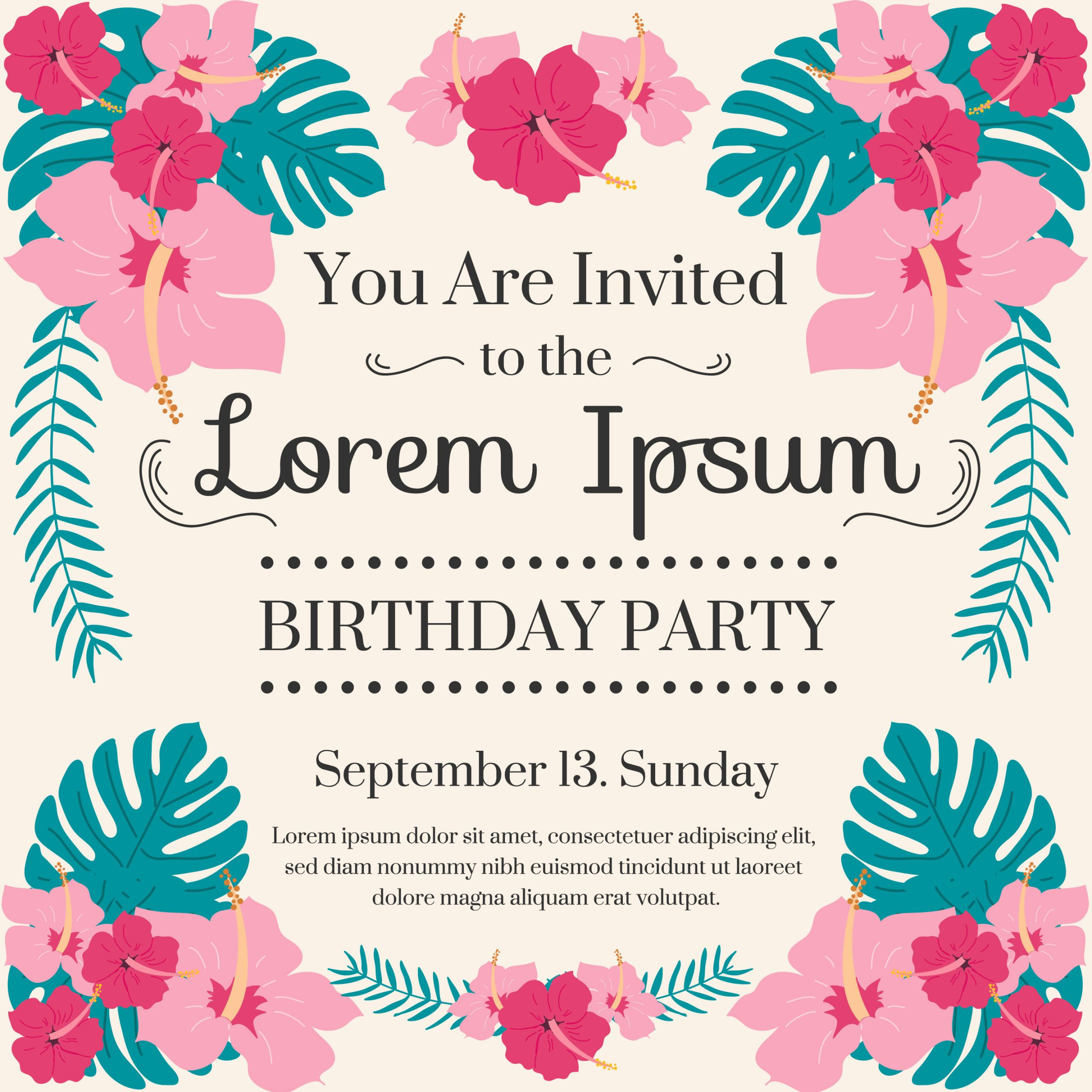 Invitation Birthday Party  Birthday Party Invitation Vector Download Free Vectors