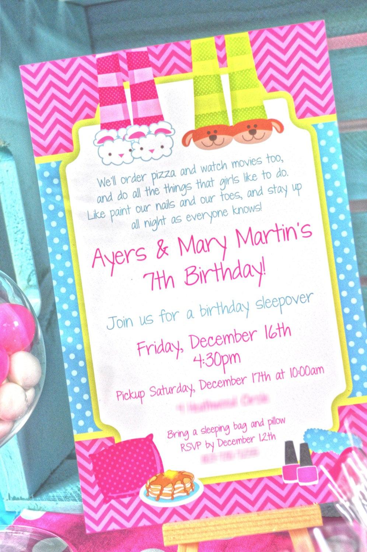 Invitation Birthday Party  Pancakes and Pajamas Birthday Party Invitations Pajama