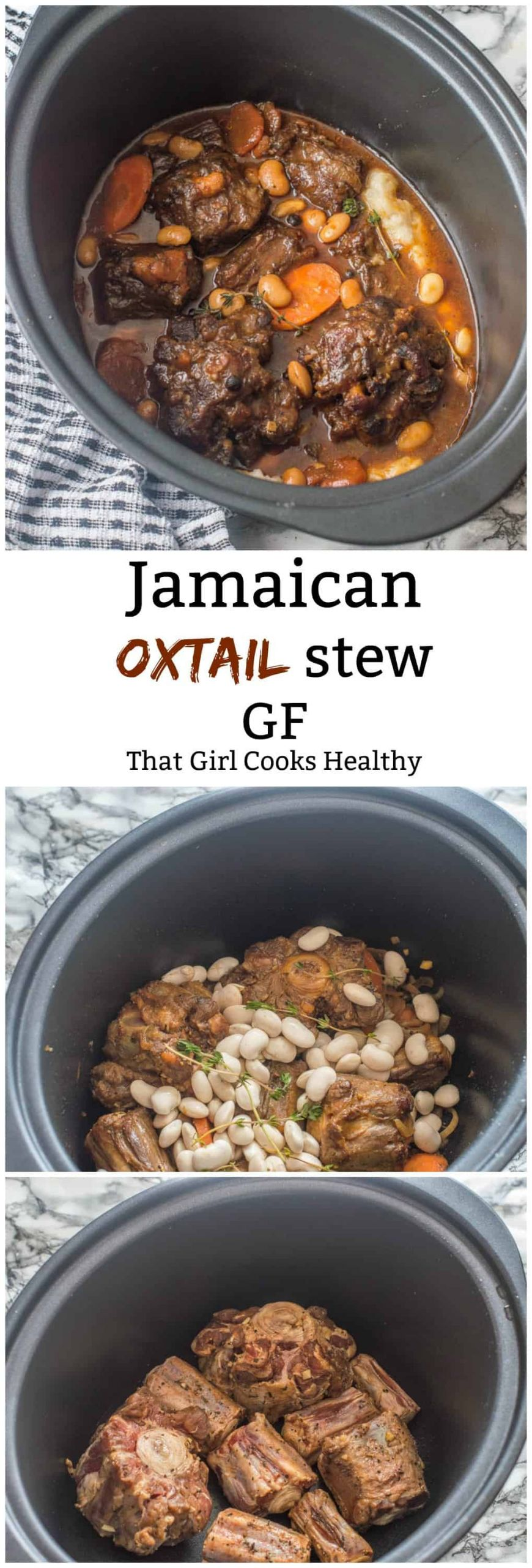 Jamaican Oxtail Stew Recipe  Jamaican oxtail stew with butter beans That Girl Cooks
