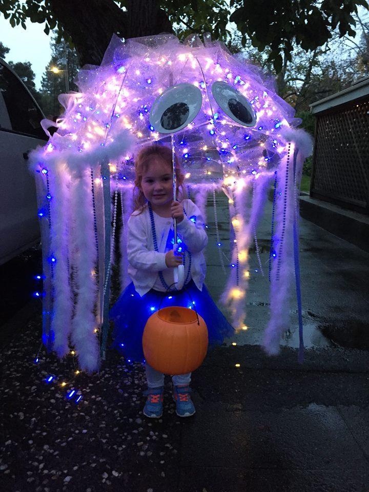 Jellyfish Costume DIY  Best Halloween costume ideas kids toddlers babies infants