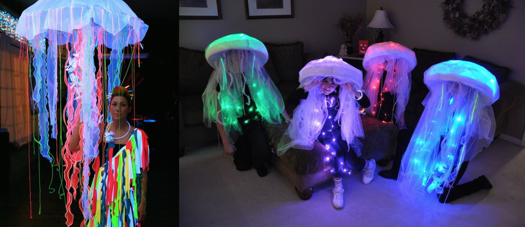 Jellyfish Costume DIY  Turn heads at any Halloween party with one of these high