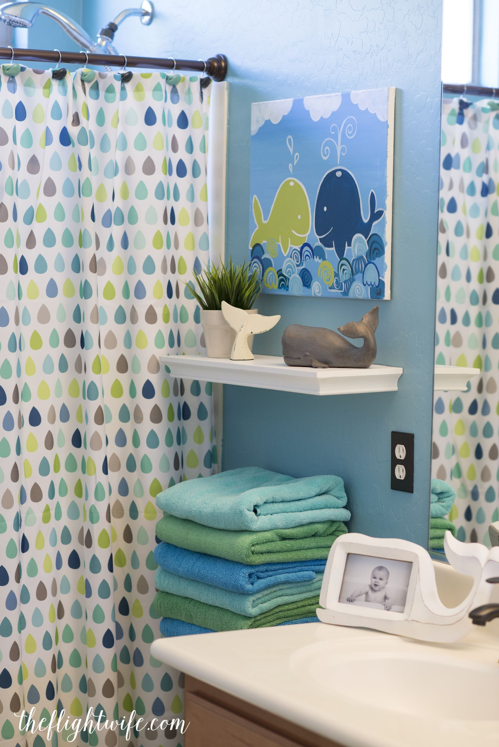 Kids Bathroom Set  Kids Bathroom Makeover Fun And Friendly Whales The