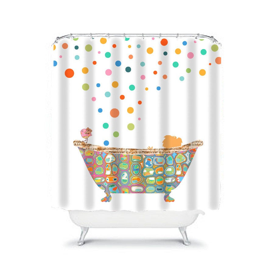 Kids Bathroom Set  kids shower curtain bathroom decor shower curtains child