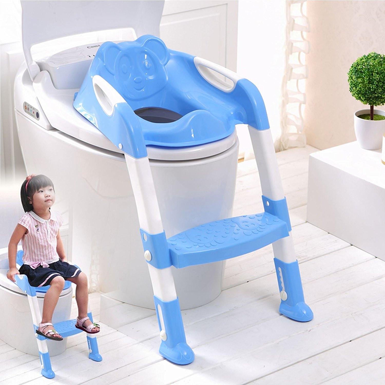 Kids Bathroom Stool  NEW BABY KIDS TODDLER CHILD TOILET POTTY TRAINING STEP