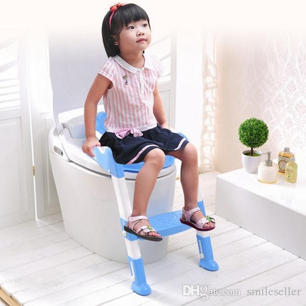 Kids Bathroom Stool  2019 Baby Foldable Potty Kids Training Toilet Seat Anti