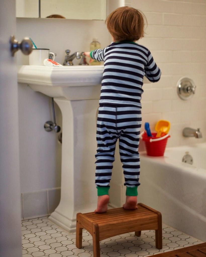 Kids Bathroom Stool  Motherhood Mondays Brushing Kids Teeth