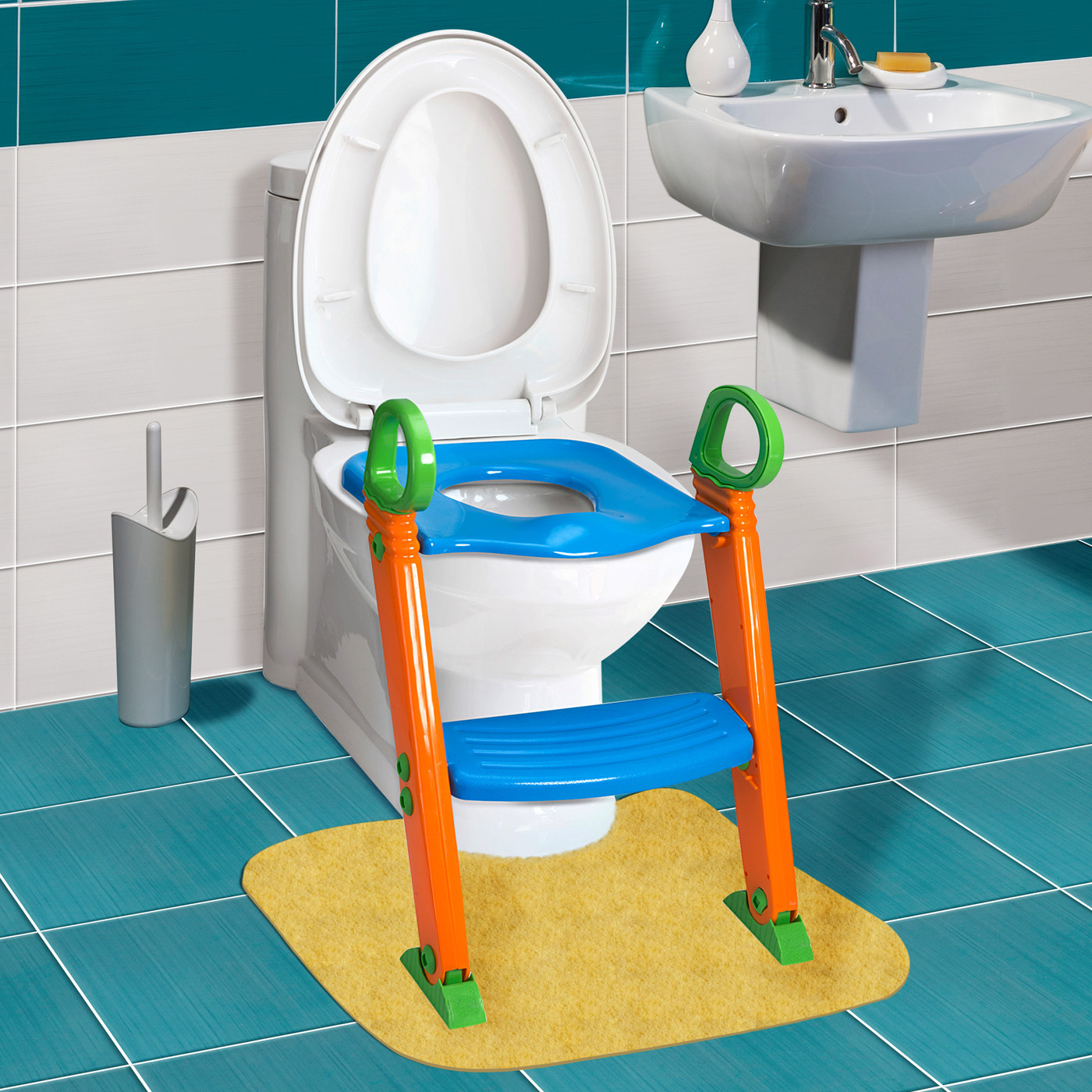 Kids Bathroom Stool  Kids Potty Training Seat with Step Stool Ladder for Child