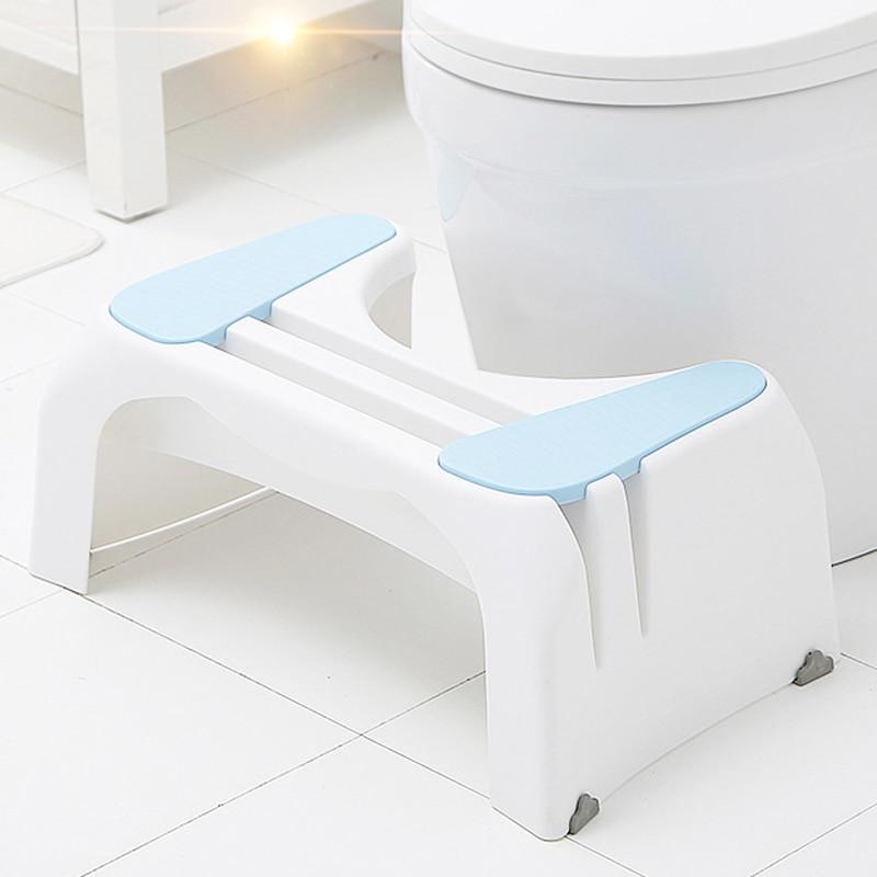 Kids Bathroom Stool  Plastic Toilet Seat Footstool Adult Squat Stool Squatting