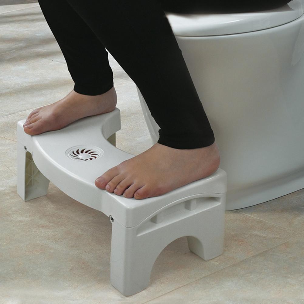 Kids Bathroom Stool  Footstool Bathroom Foldable For Kids Plastic Stool Toilet
