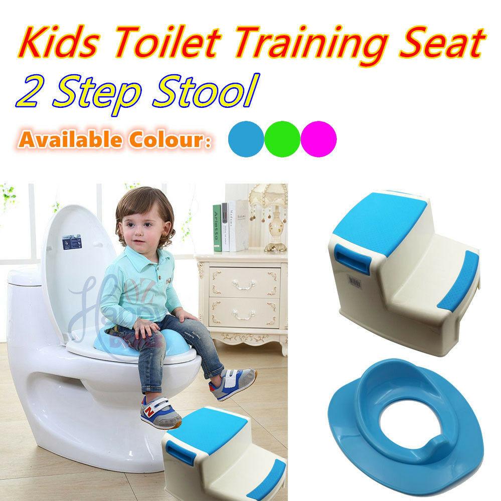 Kids Bathroom Stool  New Portable Plastic 2 Step Stool Bathroom Kids toilet