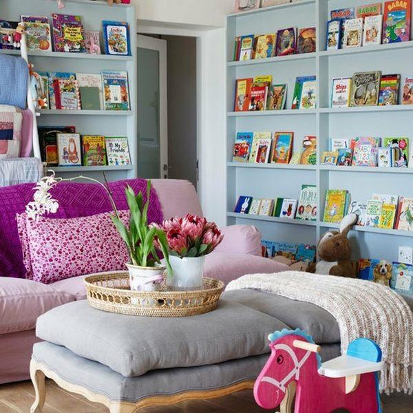 Kids Reading Room  Forward facing bookshelf ideas – cool kids room furniture