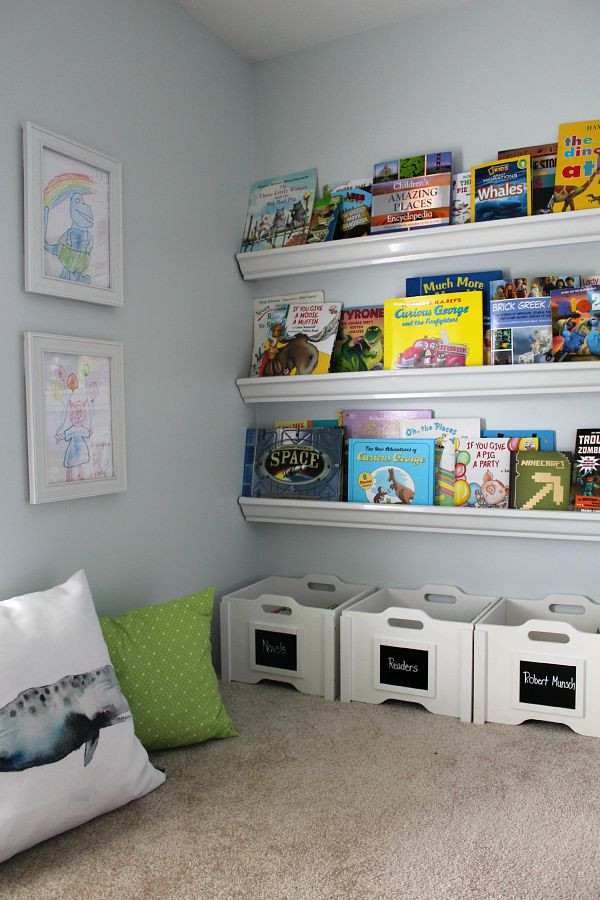 Kids Reading Room  25 Fab Ideas for Organizing Playrooms & Kid s Spaces