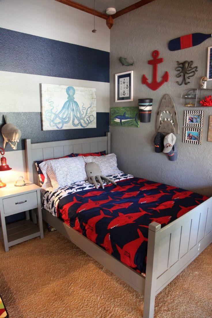 Kids Room Decor Boy  Shark Themed Boy s Room in 2019 Big Boy Rooms