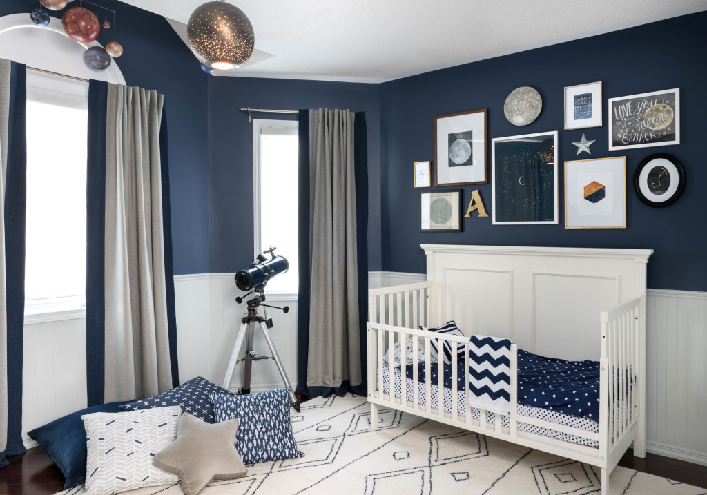 Kids Room Decor Boy  Celestial Inspired Boys Room Project Nursery