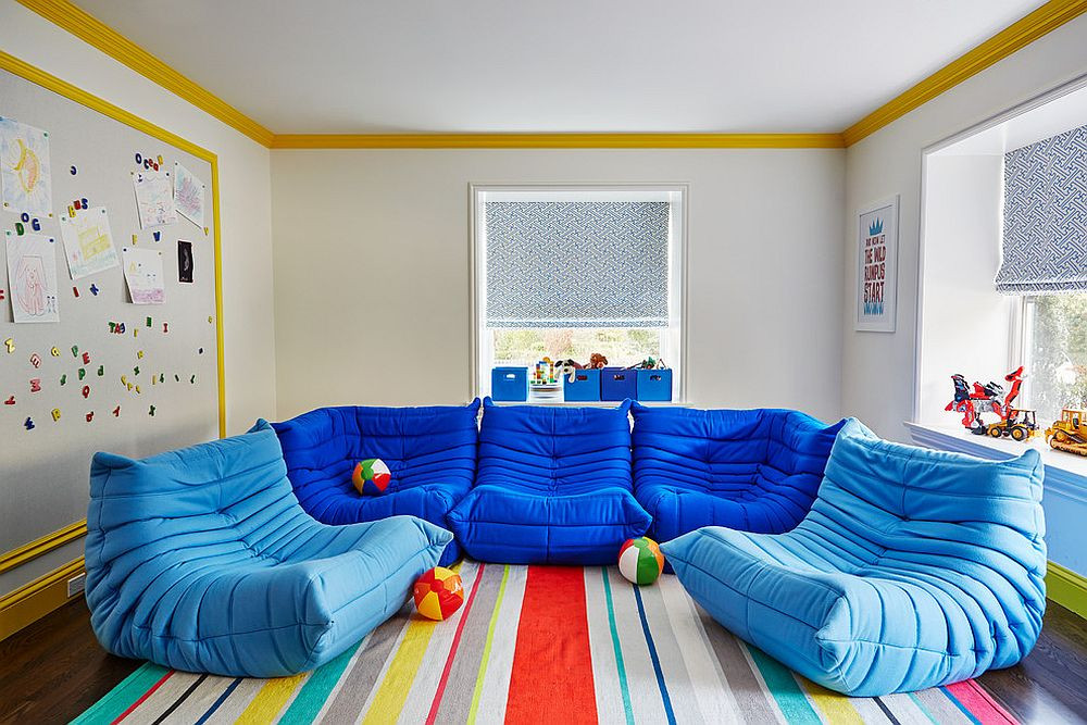 Kids Room Seating  Chic Adaptability 10 Kids' Rooms with Versatile Modular