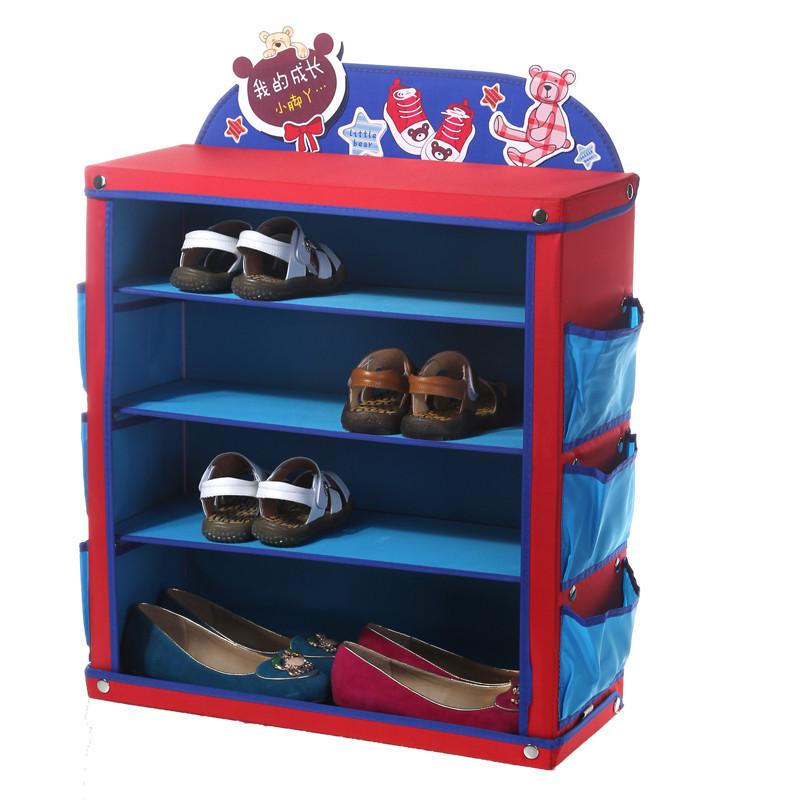 Kids Shoe Storage  Creative Children s Shoe Rack Foldable Waterproof Cartoon