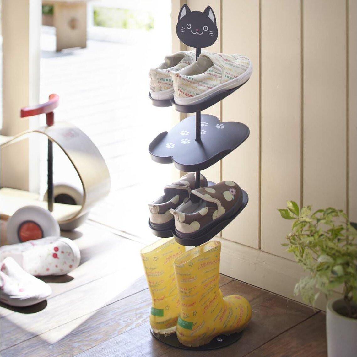 Kids Shoe Storage  Yamazaki USA Kid s 4 Tier Shoe Rack & Reviews