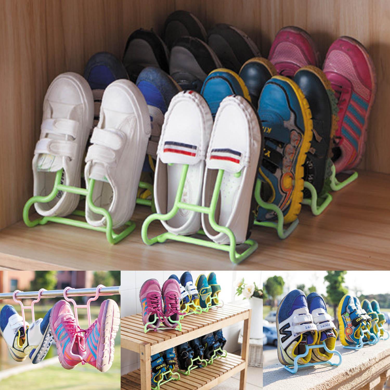 Kids Shoe Storage  2PCS Set Multi function Plastic Children Kids Shoes
