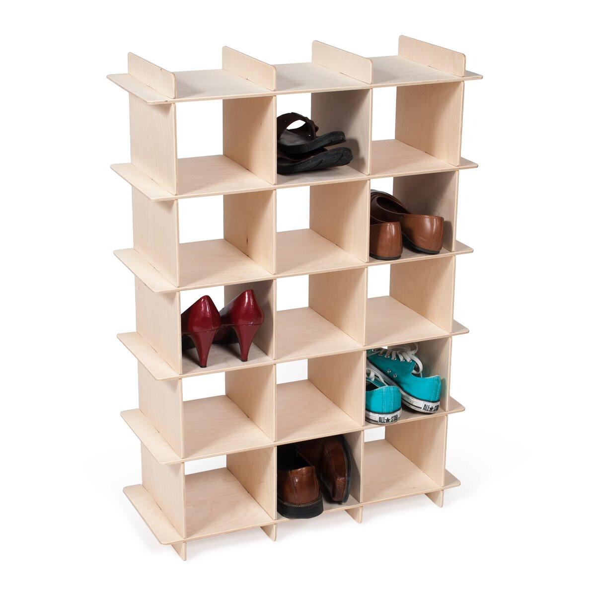 Kids Shoe Storage  Sprout Kids 15 partment Shoe Rack & Reviews