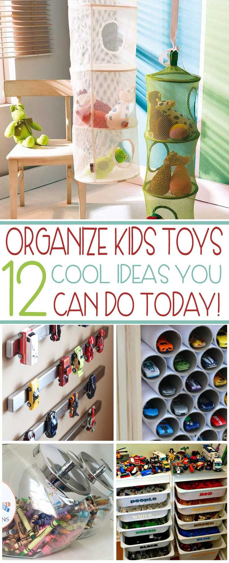 Kids Toy Organizing Ideas  Organize Your Kids Toys TODAY With These 12 Cool Ideas