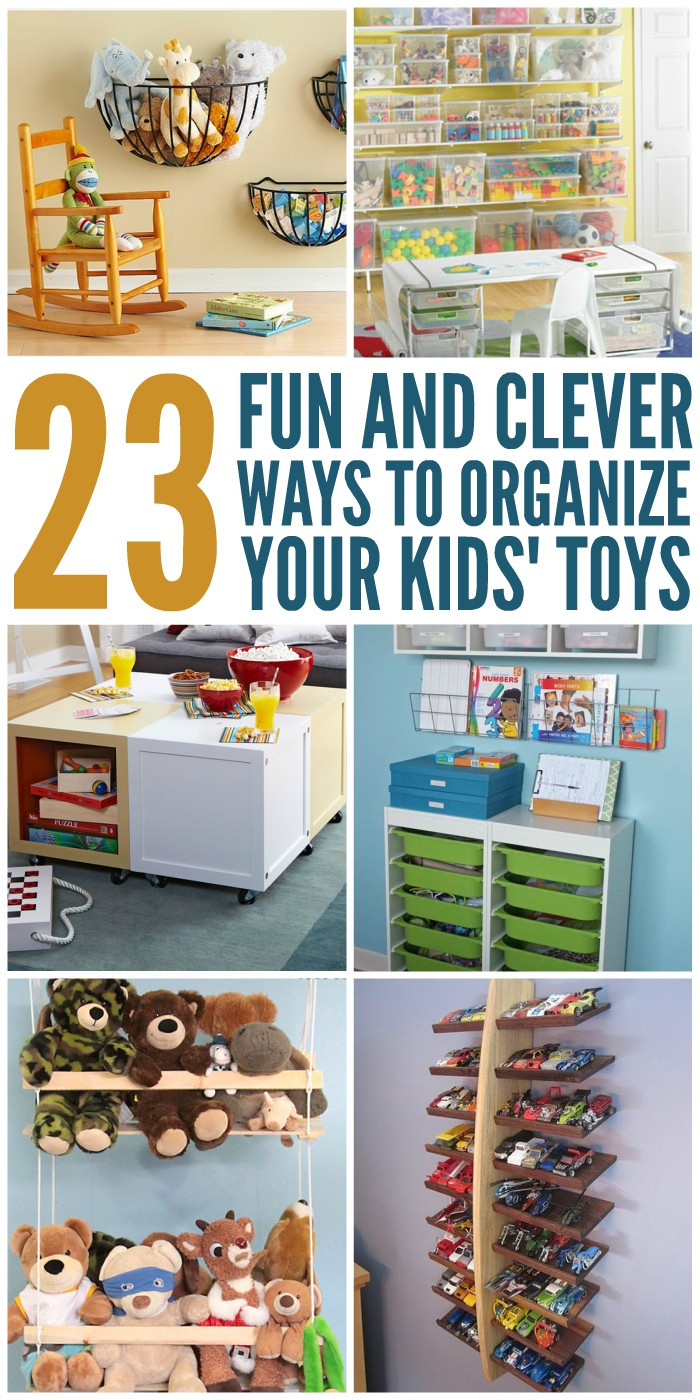 Kids Toy Organizing Ideas  23 Fun and Clever Ways to Organize Toys