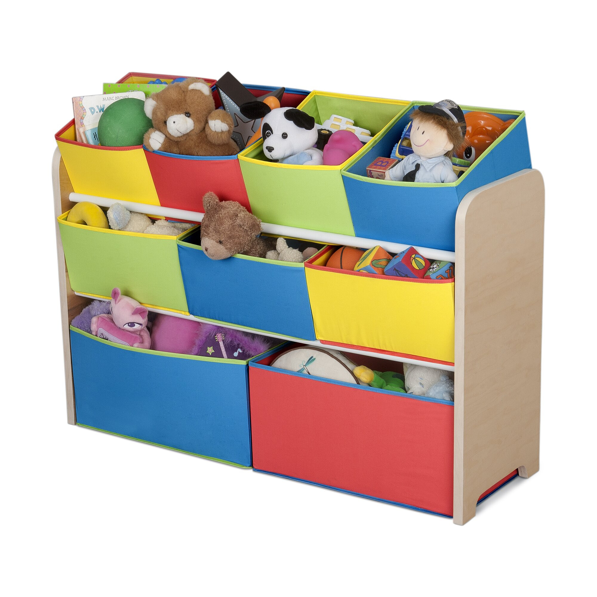 Kids Toys Storage  Delta Children Multi Color Deluxe Toy Organizer with Bins
