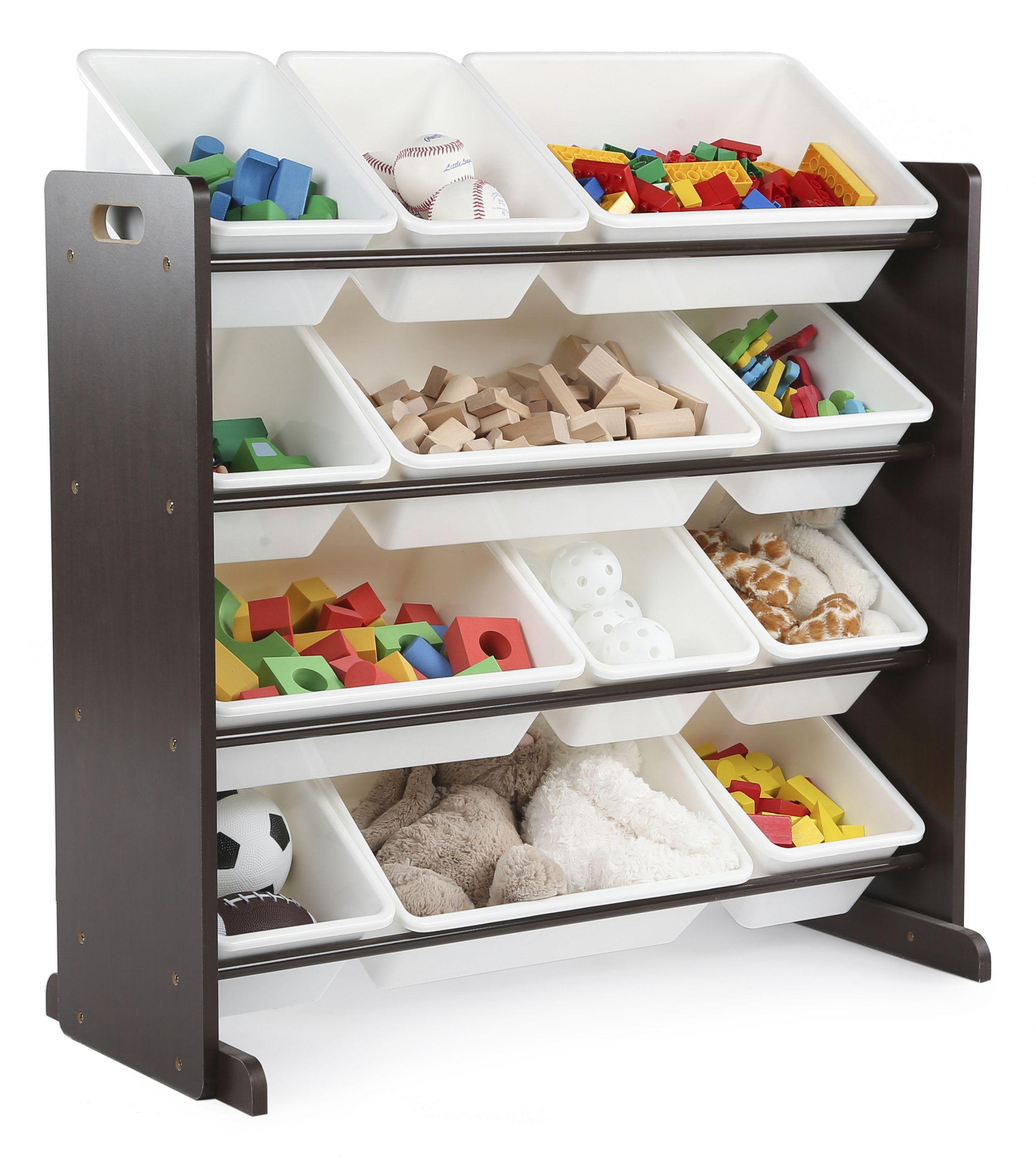 Kids Toys Storage  Tot Tutors Kids Toy Storage Organizer with 12 Plastic Bins