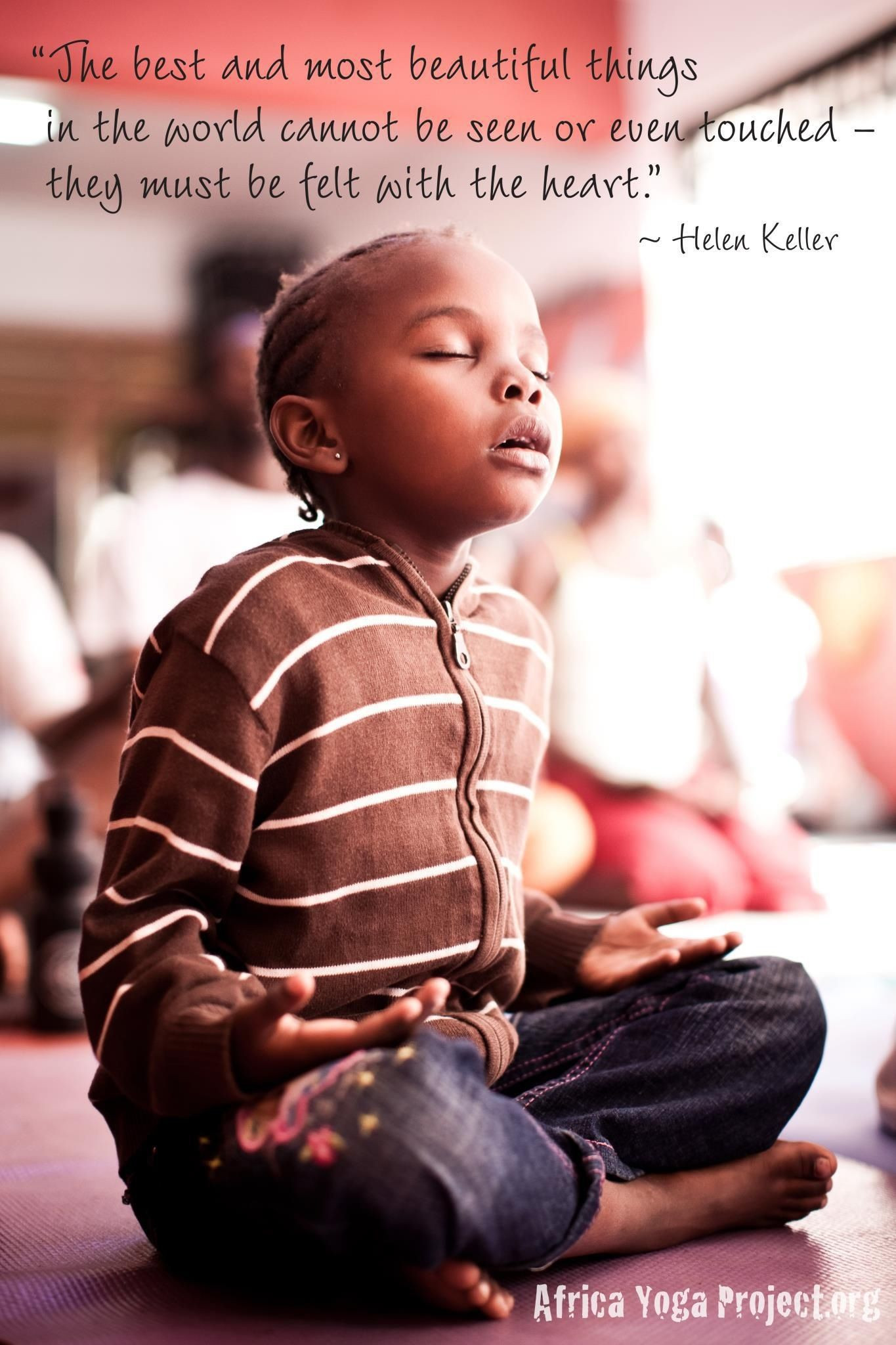 Kids Yoga Quotes  OHM a quote by Helen Keller