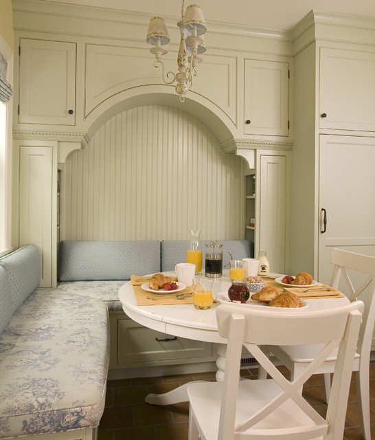 Kitchen Nooks With Storage  Breakfast nook with built in seating and storage